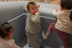 Tokyo baby cafe で、ベビーシューズファッションショー