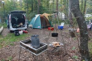 秋の子連れキャンプ 清水国明の森と湖の楽園