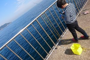 初 海釣り