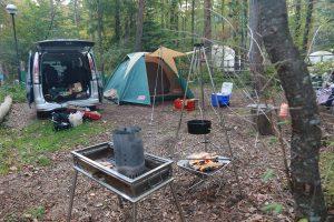 秋の子連れキャンプ
