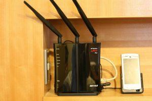 無線ルーター(WZR-HP-G450H)で無線LAN環境を整えました。